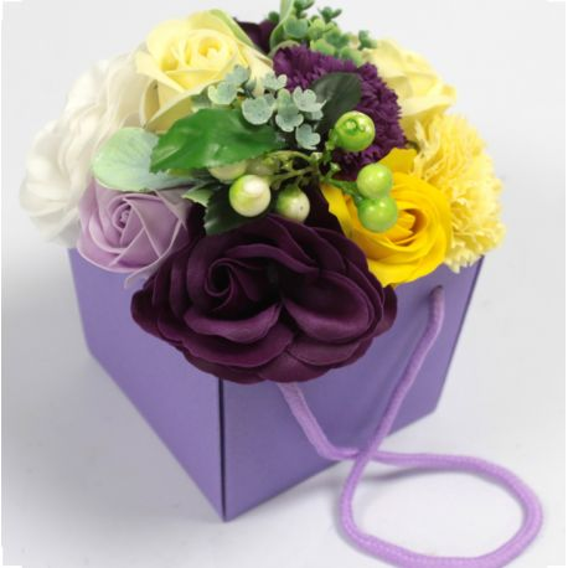 Bouquet insolite 10 Fleurs de savon : Jardin violet