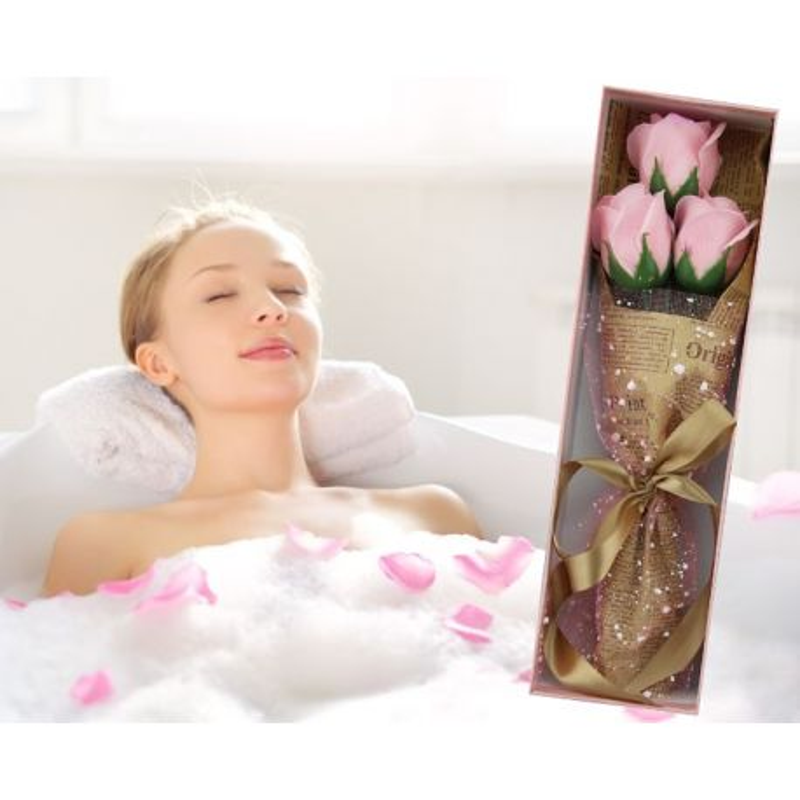 Bouquet original de 3 Roses de savon