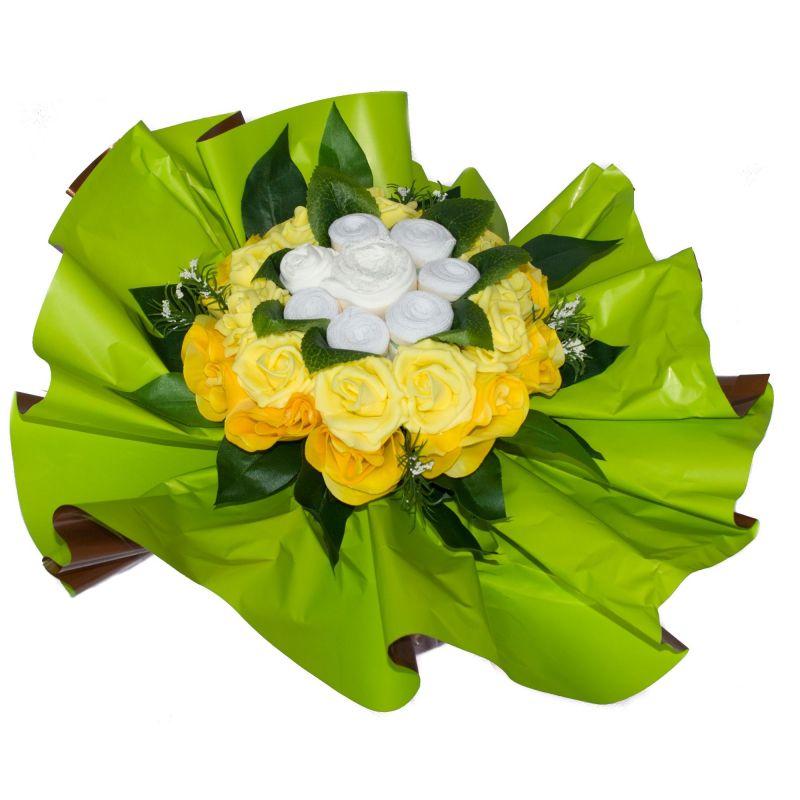 Bouquet original vêtements : Douce nuit Jaune