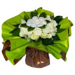 Bouquet de Lingeries blanche (taille S/M) : Blanc