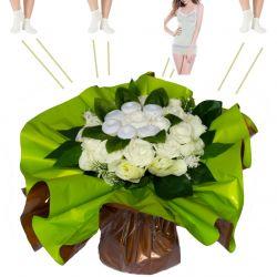 Bouquet originale vêtements : Douce nuit Blanc