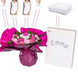 Bouquets originaux habits personnalisé rose
