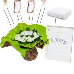 Bouquet vêtements personnalisée (taille M) : blanc