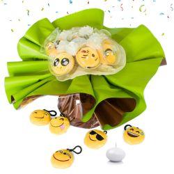 Bouquet anniversaire rigolo emoji