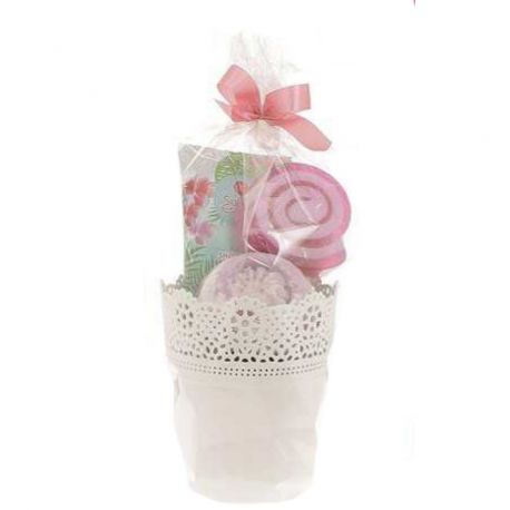 Coffret bain gourmand : rose
