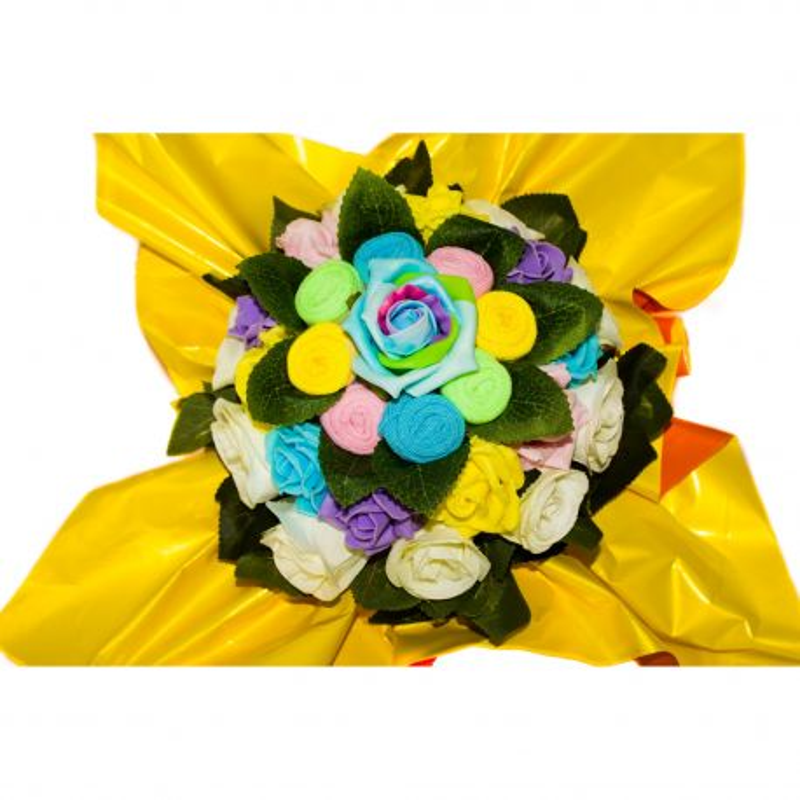 Bouquet fun de chaussettes : Arc en ciel