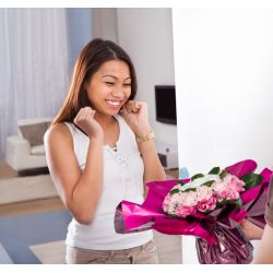 Bouquet de Lingeries blanche (taille S/M) : Rose