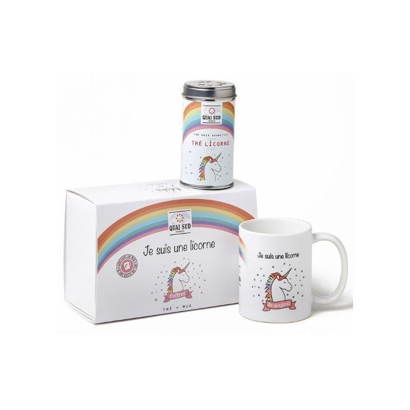 """COFFRET cadeau THÉ NOIR """"JE SUIS UNE LICORNE"""""""