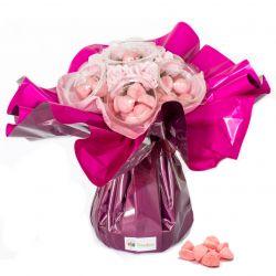Bouquet de bonbons : Pierrot Gourmand rose
