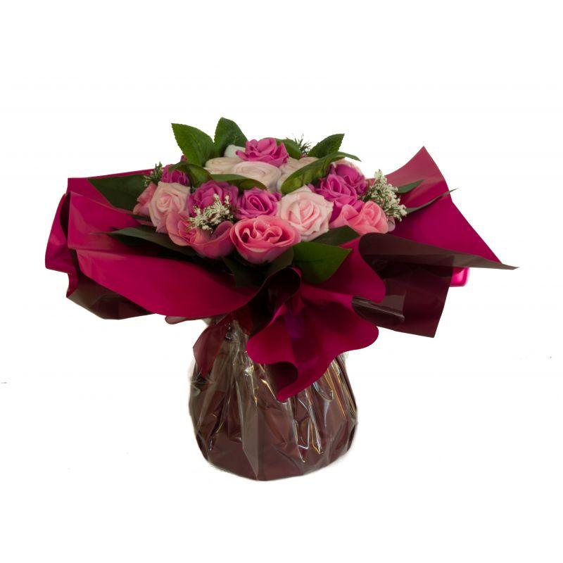 Bouquet de 8 layettes : Symphonie Rose