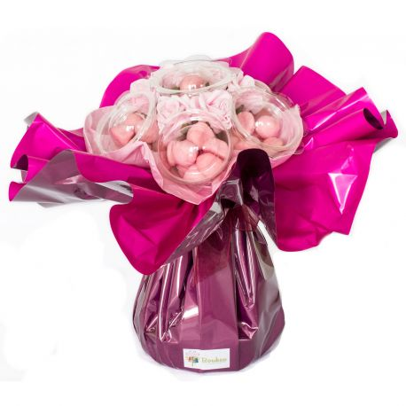 Bouquet de bonbons : Pierrot Gourmand rose