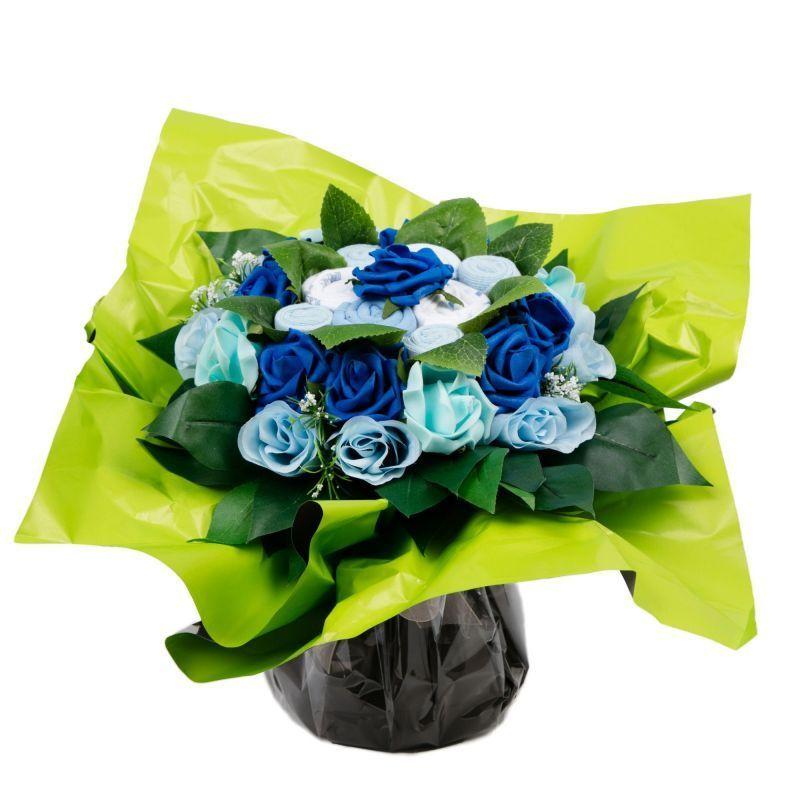Bouquet de 8 layettes : Symphonie Bleu