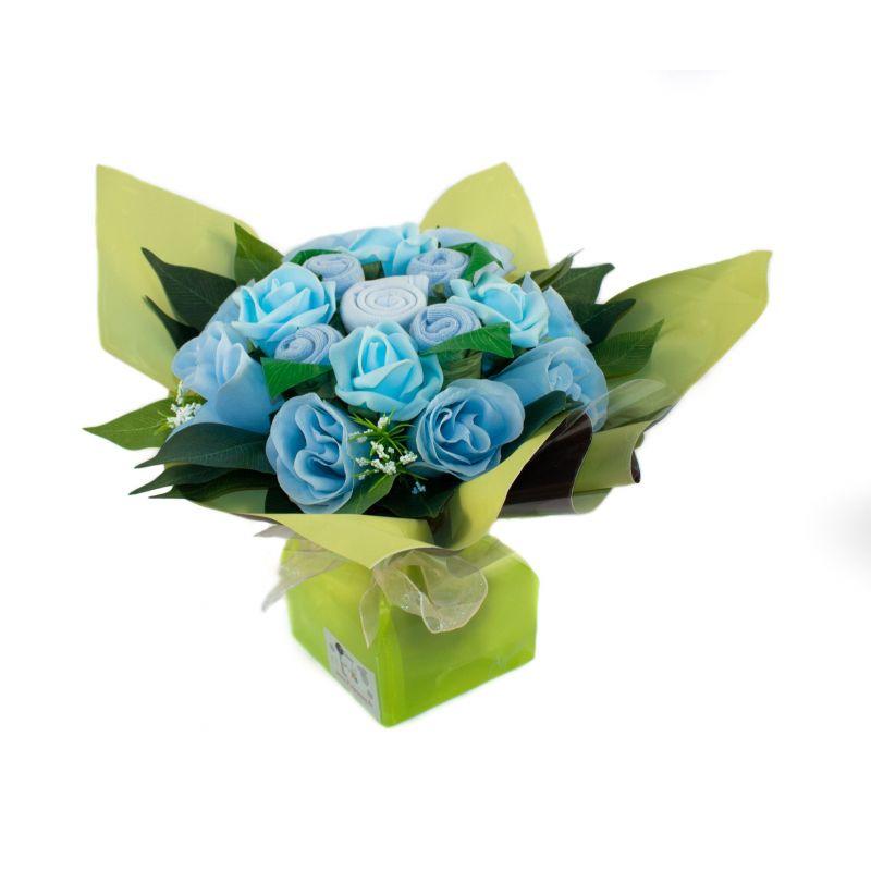 Bouquet de 5 layettes : Mélodie bleu