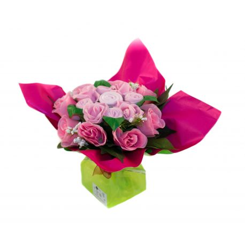 Bouquet de 5 layettes : Mélodie rose