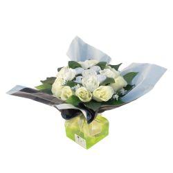 Bouquet de 5 layettes : Mélodie Blanc