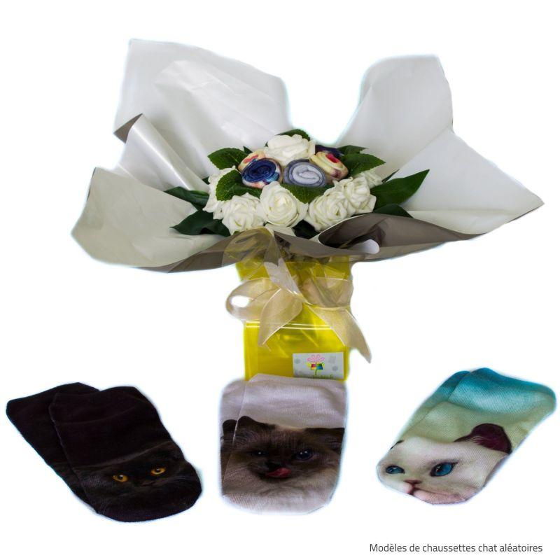 Bouquet de chaussettes : chat