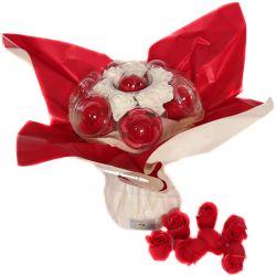 Bouquet cadeau : fleurs de savon Noël
