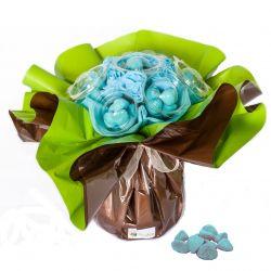 Bouquet original de bonbons : Bleu