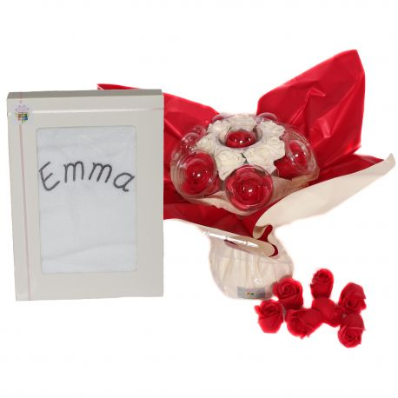 Bouquet cadeau personnalisé : Savon Passion