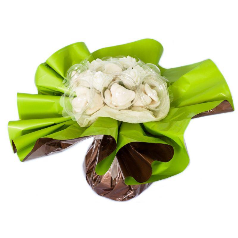 Bouquet de bonbons : cœur blanc