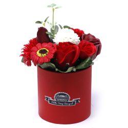 Bouquet petit cadeau : fleurs de savon rouge