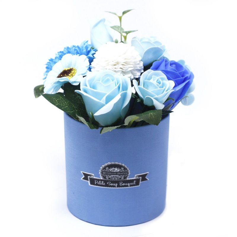 Bouquet petit cadeau : fleurs de savon bleu