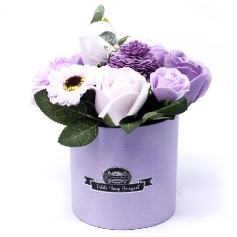 Bouquet petit cadeau : fleurs de savon lavande