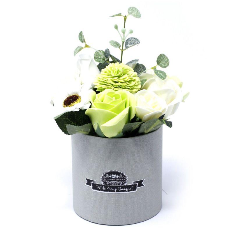 Bouquet petit cadeau : fleurs de savon vert pastel