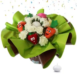 Bouquet anniversaire original Fruits et légumes