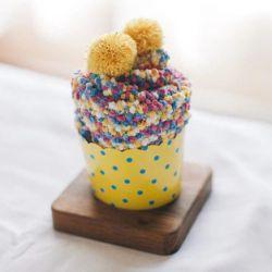Cupcake chaussettes femme : multicouleur