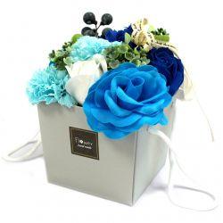 Bouquet surprise 10 Fleurs de savon : Fleurs savon bleues