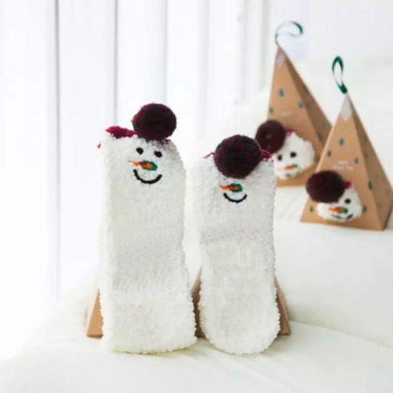 Boite chaussettes Femme : Bonhomme de neige