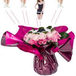 Bouquet de Lingeries noire (taille S/M) : Rose
