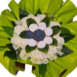 Bouquet de Lingeries noire (taille L/XL) : Blanc