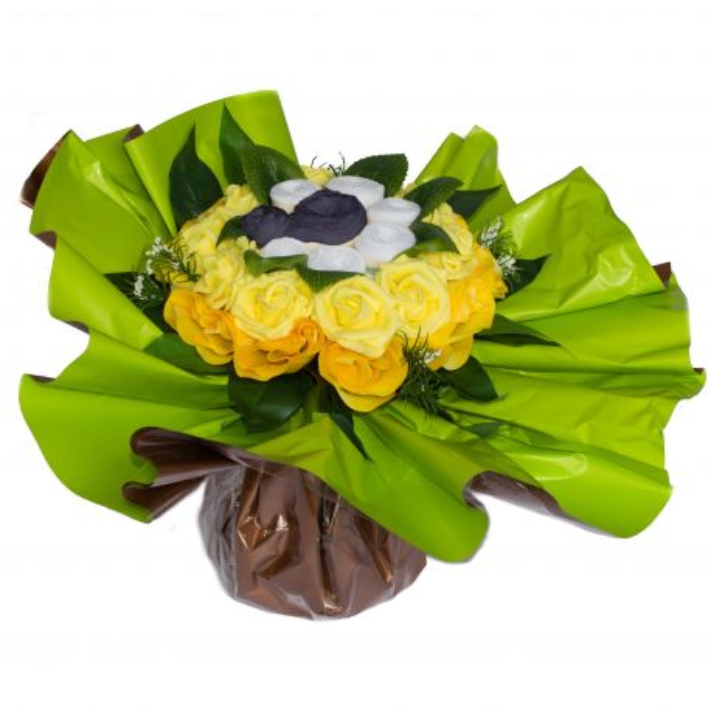 Bouquet de Lingeries noire (taille S/M) : Jaune