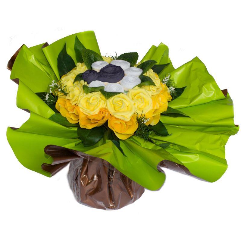 Bouquet de Lingeries noire (taille L/XL) : Jaune