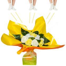 Bouquet de chaussettes : jaune