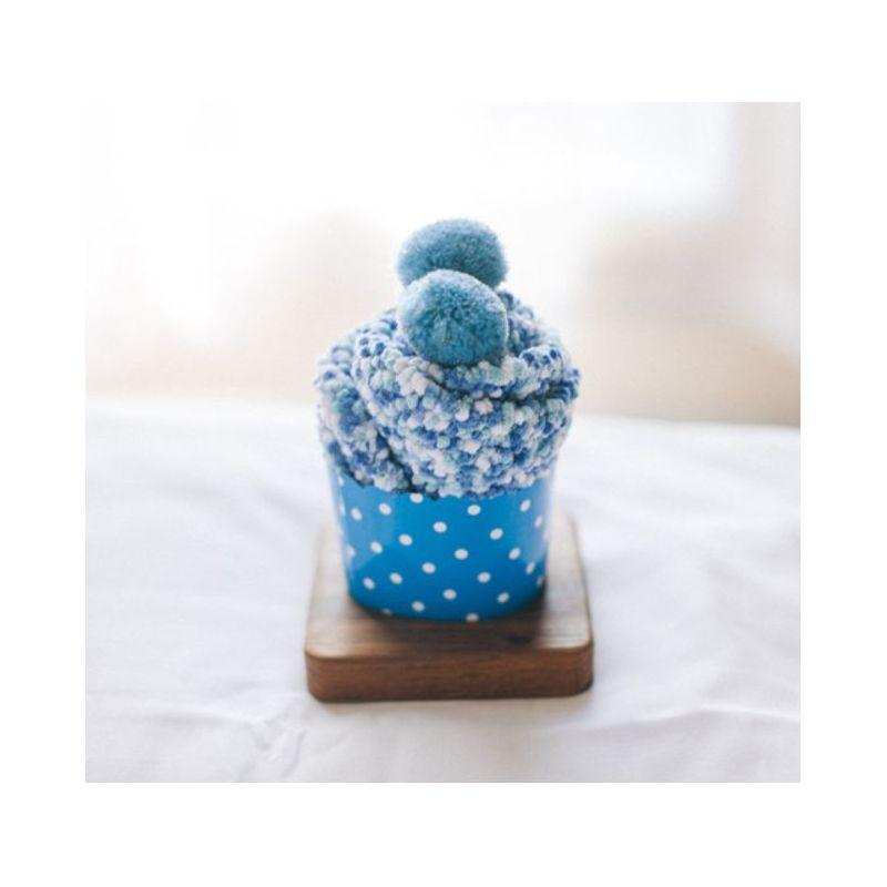 Gâteau chaussettes femme : Bleu