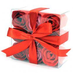 9 roses de savon parfumées : Rouge
