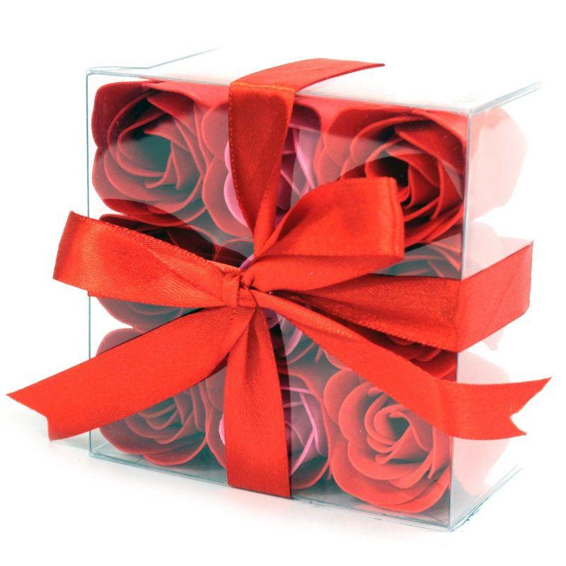 cadeau pour l e bain 9 fleurs de savon parfumées : Rouge
