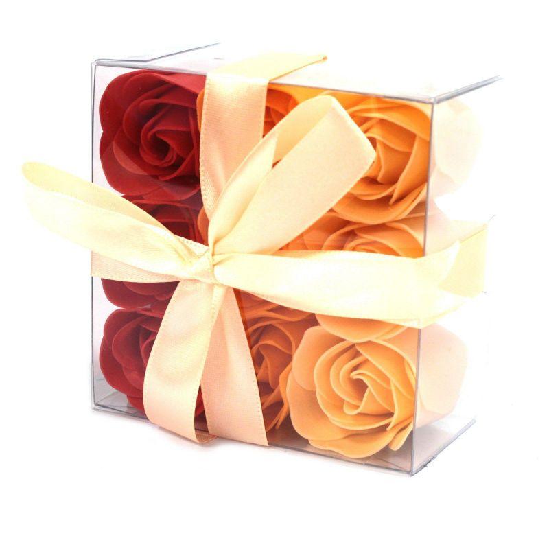 cadeau zen, 9 fleurs de savon parfumées : Orange