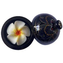 Fleur de savon sculptée: Plumeria Blanc