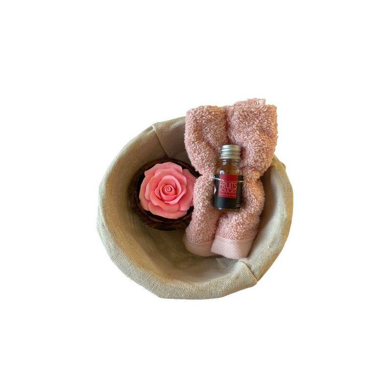 Fleur de savon sculpté : Rose cadeau original