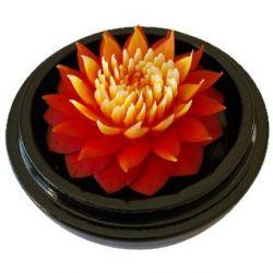 Fleur de savon sculptée: Immortelle Orange