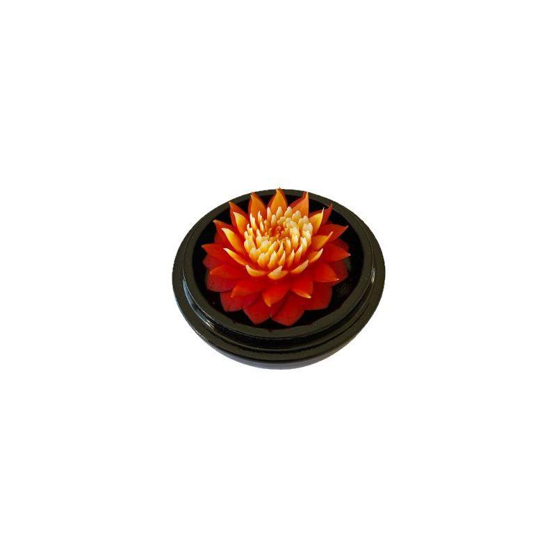 Fleur de savon sculptée: Dahlia fleur anniversaire