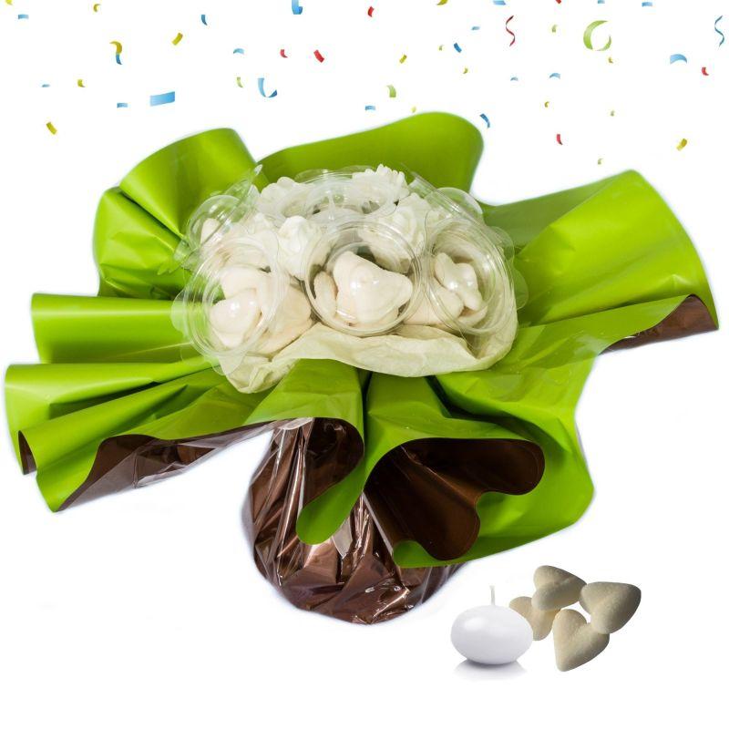 Bouquet anniversaire bonbons : blanc