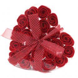 Coeur de roses de savon : Saint Valentin