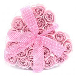 Coeur de roses de savon : Rose