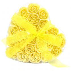 Coeur de roses de savon : Jaune