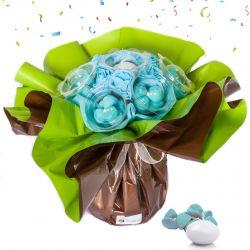 Bouquet anniversaire bonbons : bleu